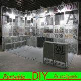 Портативный изготовленный на заказ модульный напечатанный фон знамени выставки выставки с фарами