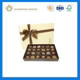 Contenitore di carta di nuovo cioccolato di lusso con il divisore ed il tessuto di carta Bownot (contenitore della parte inferiore e di coperchio)