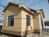 Casa prefabricada con la estructura del marco de acero para el almacén, casa comercial, bar