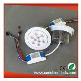 백색 쉘 RGBW/RGB 27W LED Downlight