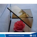 vidrio de flotador teñido 3mm-12m m con Ce&ISO para la pared