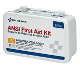 Primeros auxilios solamente 90755 clase a granel obediente a, metal de 10 personas del ANSI 2015, a prueba de mal tiempo