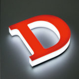 Загоранные 3D письма логоса знака СИД пем акриловые СИД акриловые рекламируя акриловый знак магазина пем СИД алфавита СИД