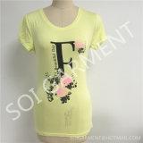 卸し売り女性の方法によって細くされるプリントTシャツ(SOI-T1703)