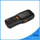 Tela de toque PDA Handheld Android programado com impressora térmica, varredor PDA Android do código de barras 1d/2D