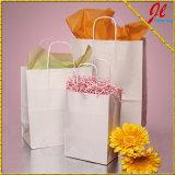 Kraft y los bolsos blancos del arte de los bolsos de Kraft reciclaron las bolsas de papel de Kraft