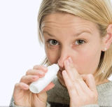 Rociador oral largo del rociador médico plástico blanco CF-O-3