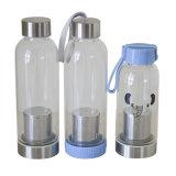 персонализированные 350ml бутылки воды узкого рта стеклянные для воды Dx-108