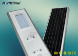 Todos en una luz de calle solar integrada de la luz auto solar del sensor 50W