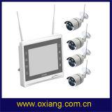 Kit senza fili di WiFi NVR dei kit della macchina fotografica di Digitahi della videocamera di sicurezza del video dell'affissione a cristalli liquidi di pollice