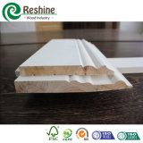Moulage en bois amorcé blanc de bois de charpente de panneau