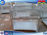 Jaula amontonable del almacenaje del acoplamiento de alambre de acero para el emplazamiento del almacén/de la obra (SC-002)
