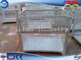Jaula de almacenamiento de malla de alambre de acero apilable para almacén / sitio de construcción (SC-002)