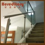Trilhos 12mm transparentes inoxidáveis do balcão do vidro Tempered de aço 304 (SJ-X1024)