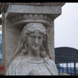 Colonna Mcol-299 del calcio dell'oggetto d'antiquariato della colonna del granito della colonna della pietra della colonna di marmo