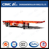 Cimc Huajun 40FT 2axle Skeleton Container Semi-Trailer mit Platform