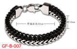 Balck en de Zilveren Armband van de Manier van het Roestvrij staal