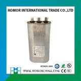 tipo oval capacitor de 370V 7.5UF de funcionamento de alumínio do motor do caso