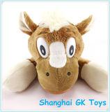 L'animal imprimé par logo joue des jouets de peluche de jouet de cheval de mascotte