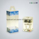 Pequeño rectángulo transparente plástico rectangular impermeable plegable