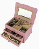 Miúdos de madeira jóia do revestimento cor-de-rosa de Matt & caixa de música