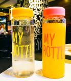 Чашка портативная пишущая машинка бутылки спорта бутылки воды боросиликатного стекла конструкции способа Multicolor