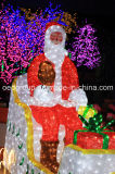 200-400W Large il Babbo Natale Deer Cart Lights Christmas Decoration Lights