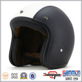 De uitstekende Open Helm van Harley van het Leer van het Gezicht/de Helm van de Motorfiets (OP238)