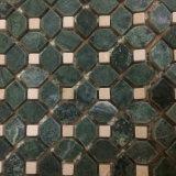 Mosaico di marmo all'ingrosso, mattonelle di mosaico verde scuro per la decorazione