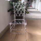 Cadeira desobstruída de Chiavari da resina, cadeira de Tiffany