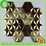 ステンレス製のSteel Tiles Stainless Steel Mosaic TileおよびチタニウムColor Decorativeステンレス製のSteel Sheet