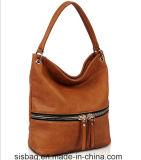 Nova forma PU Hobo Bag com zíper