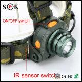 Nuovo CREE Q5 LED un movimento di 160 lumen che percepisce il faro del CREE