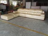 Tipo sofá del cuero genuino del grano de la tapa (A816) de Europa