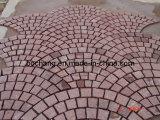 Pietra rossa cinese del lastricatore del granito per la pavimentazione esterna