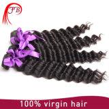 Das extensões brasileiras do cabelo do Afro do Virgin cabelo Curly brasileiro Remy