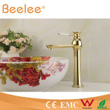 Gold quente Palted Single Lever Handle Vessel Faucet com Ceramic Lever Handle Ql14028hg