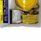 """длина 10m Materail 2 """" &50mm: Цвет PP: Желтый TUV аттестовал храповик связывает вниз, груз хлеща планку, ограничения, храповик хлеща, хлестать груза"""