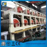 Papel usado que recicla la cadena de producción de alta velocidad de máquina del papel higiénico del tejido 8ton/Day de 2400m m