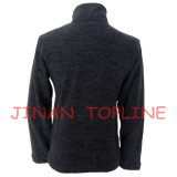 Enfants Black Cationic Micro Fleece Spandex Fiber Stitching Color Casual Jacket