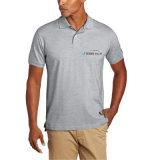 Chemise de polo solide des hommes avec le petit logo brodé