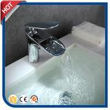 Chrom-Wasserfall-Bassin-Hahn für Badezimmer mit Messingmaterial