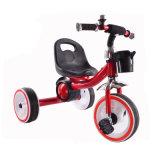 Falshingの軽い車輪が付いている2017人の3人の車輪の子供のペダルの三輪車