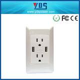 Usb-Kanal wir Wand-Kontaktbuchse, 5V 2.1A elektrische Schalter-Kontaktbuchse