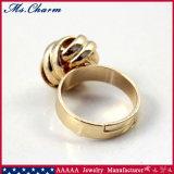 De neigende Verlovingsringen van de Bal van Stijlen gouden-Kleur Geweven voor Vrouwen