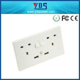 Großbritannien 2 Gang Switched Wall Socket mit 2 USB Port