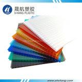 Het verschillende Holle Blad van het Polycarbonaat van Kleuren Plastic met UVBescherming