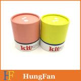 Rectángulo de papel de empaquetado cosmético del regalo del redondo de tubo de cartulina