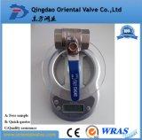 Vávula de bola de cobre amarillo del agua de la alta calidad del precio de fábrica (PN25 con CE)