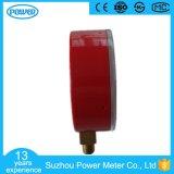 60mmの工場価格の赤い鋼鉄ケースの冷却剤の圧力計